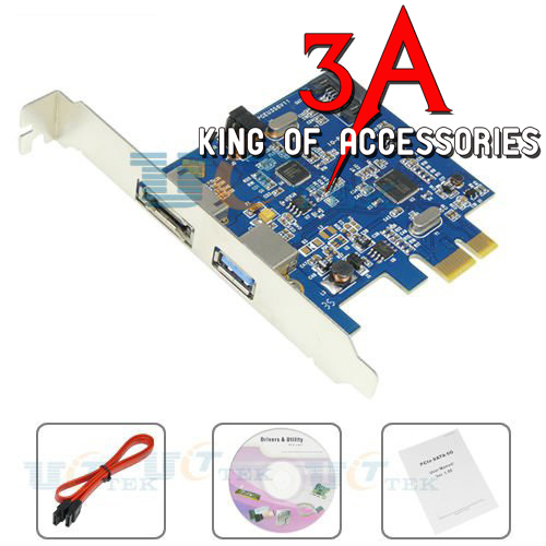 Card PCI express to Esata, sata và usb 3.0