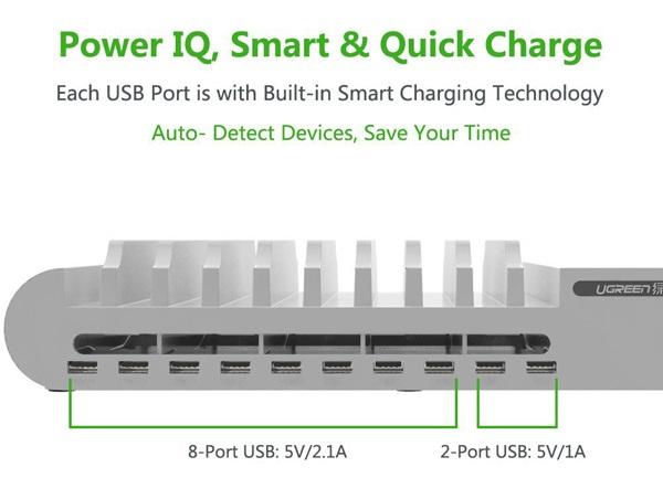 Dock sạc đa năng để bàn 10 cổng USB Ugeen 20380
