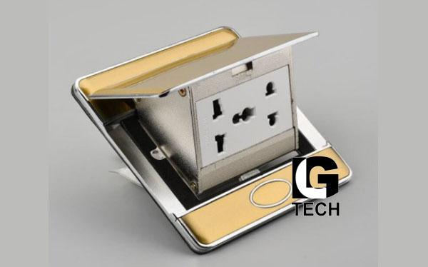 Ổ điện âm tương 2 ổ cắm có công tắc ẩn LGTECH OD2AN