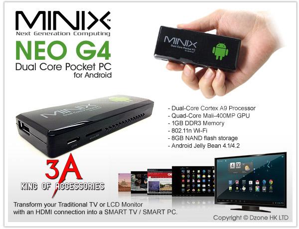 USB Android TV box MINIX NEO G4 8GB nhỏ gọn giá tốt