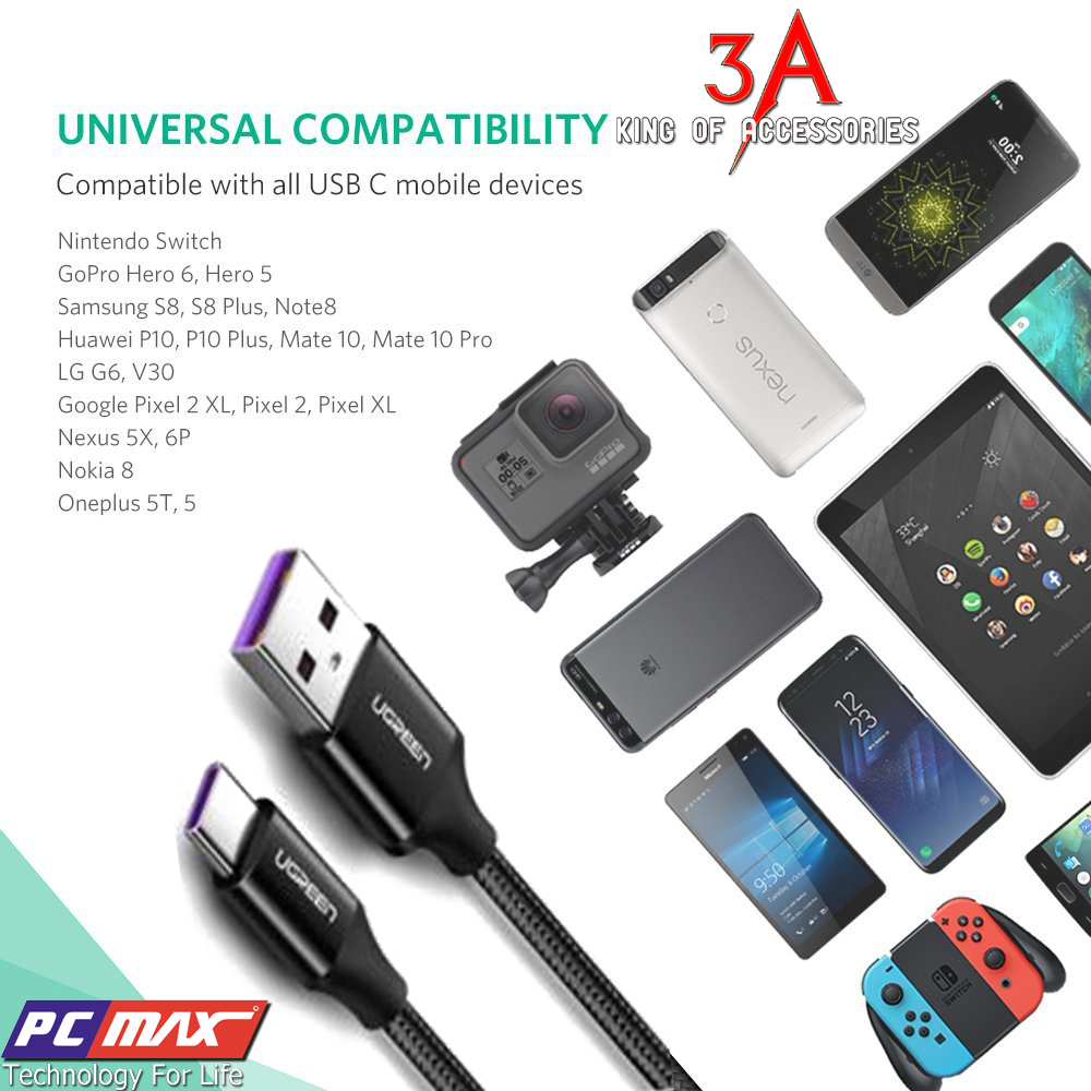 Dây sạc USB type C Ugreen 50566 c