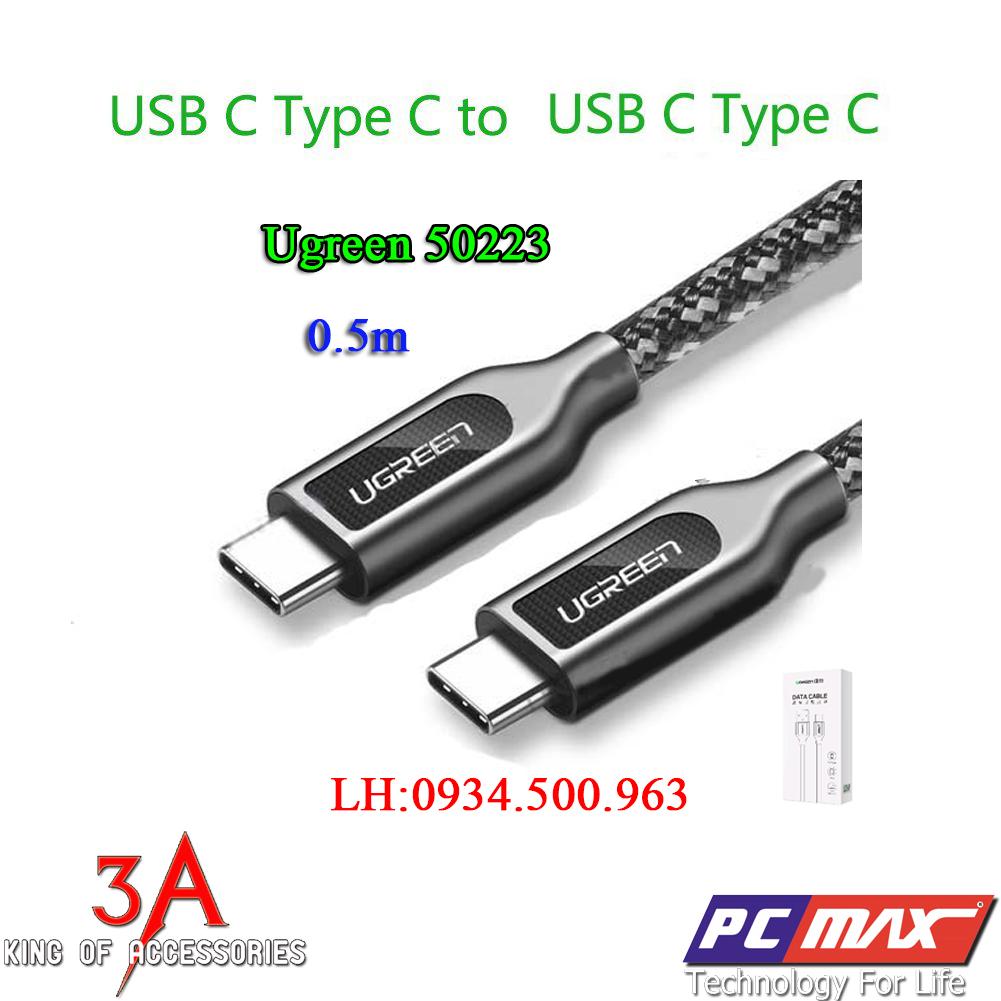 Cáp USB Type-C bọc hợp kim dài 0.5m