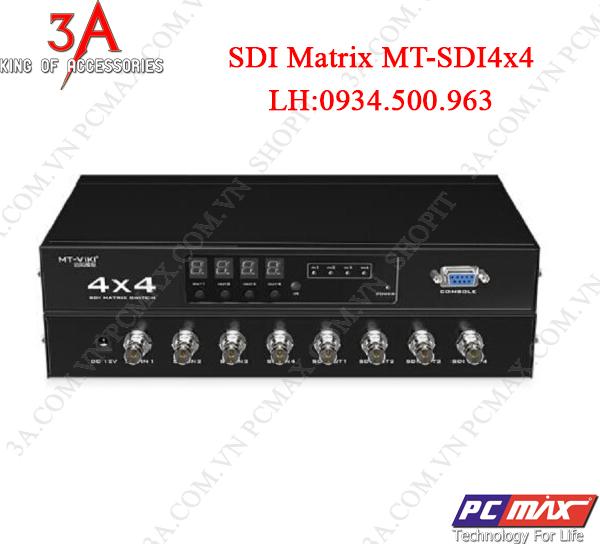 Bộ gộp , chia tín hiệu SDI matrix 4 vào 4 ra