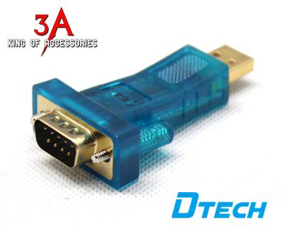 Đầu chuyển USB sang COM RS232 chính hãng Dtech
