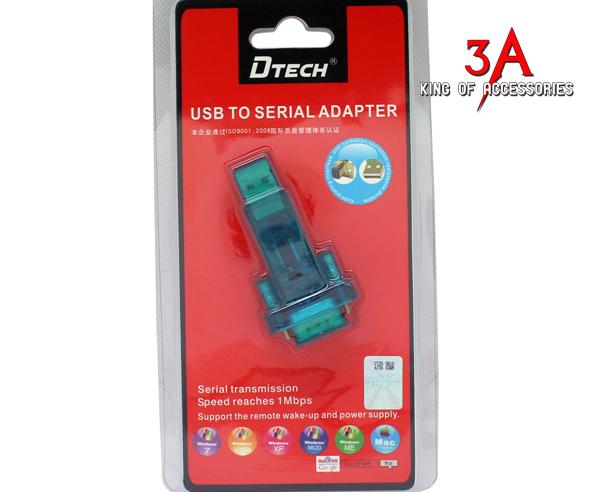 Đầu chuyển USB sang COM RS232 chính hãng Dtech tại Hà Nội