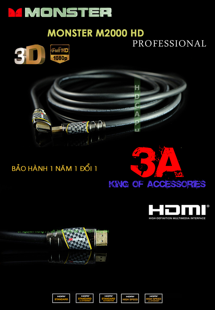 Cáp HDMI Unitek 1.5 mét Cap-hdmi-monster-14