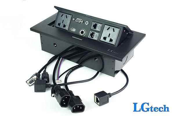 Ổ cắm điện đa năng có cổng VGA, LAN, USB và audio LGTECH OD2VL2UAU2