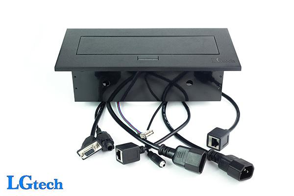 Ổ cắm điện đa năng có cổng VGA, LAN, USB và audio LGTECH OD2VL2UAU