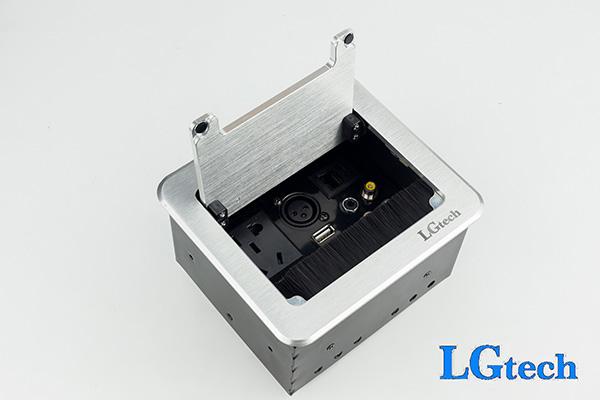 Ổ cắm điện âm tường có HDMI, VGA, AV, RJ45, USB và cổng audio LGTECH ODHVAVLUAU