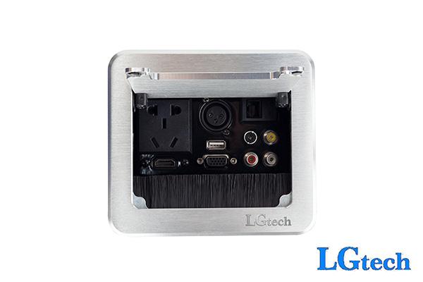 Ổ cắm điện âm tường có HDMI, VGA, AV, RJ45, USB và cổng audio LGTECH ODHVAVLUAUMIC