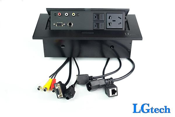 Ổ điện âm tương hỗ trợ VGA, AV cổng mạng và audio 6.5mm LGTECH ODVAVL2AU