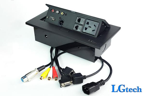 Ổ cắm điên đa năng có cổng LAN, VGA và AV LGTECH ODVAVL2MIC