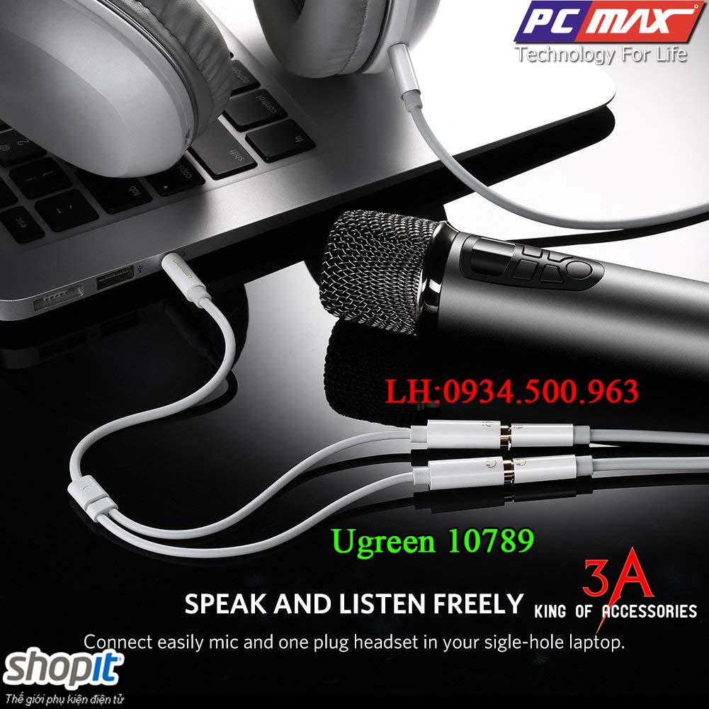 Thông số kỹ thuật Cáp chia Audio 1 ra 2 chính hãng Ugreen 10789