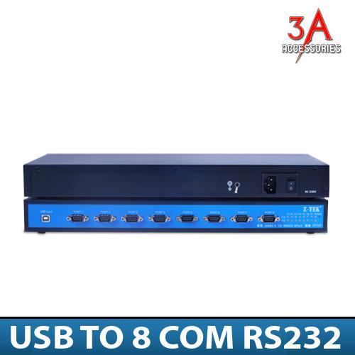 Bộ chuyển đổi USB sang 8 cổng RS232 chính hãng Ztek ZY127
