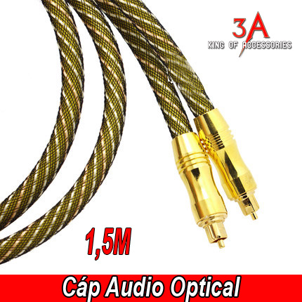 Cáp âm thanh quang học Toslink A2 - Cable optical audio 1,5m