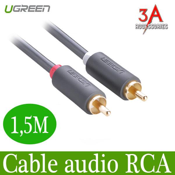 Cáp Audio 2 đầu RCA dài 1,5m Ugreen 10517