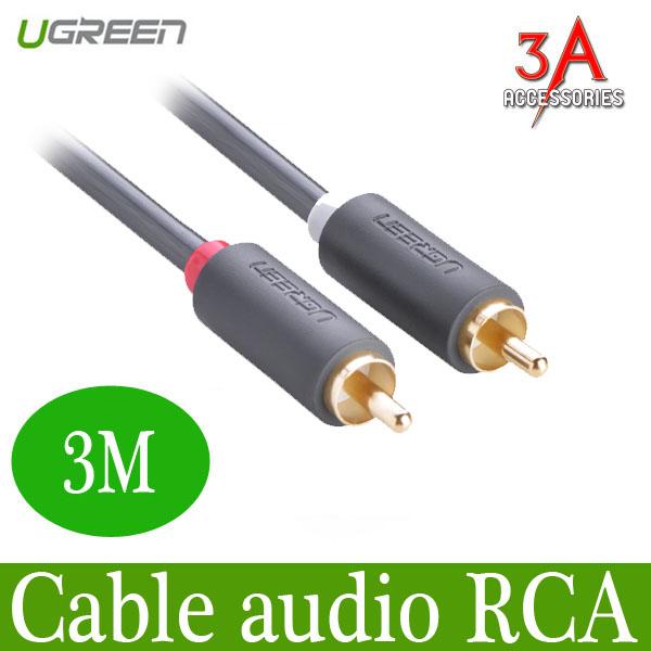 Cáp Audio 2 đầu RCA dài 3m Ugreen 10519