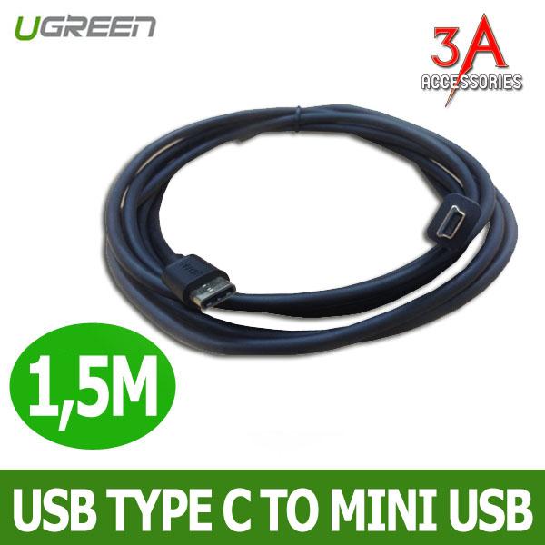 Cáp usb chuẩn C sang mini usb dài 1,5m - Ugreen 30186