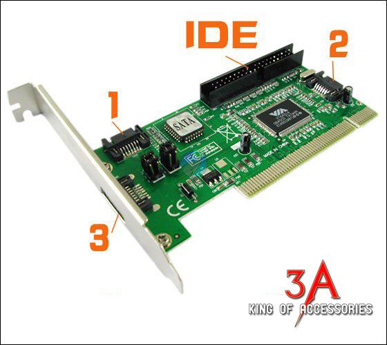 Card chuyển đổi PCI ra cổng IDE, Sata cho máy tính pc
