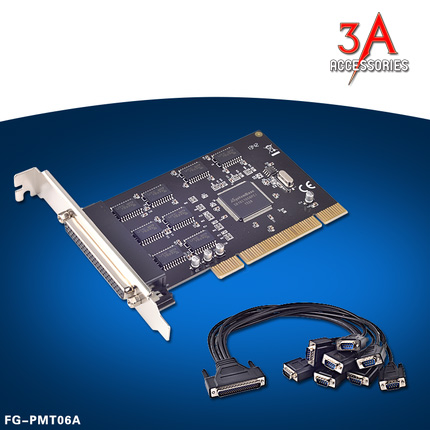 Card PCI express to 8 cổng Com Rs232 FG-PMT06A