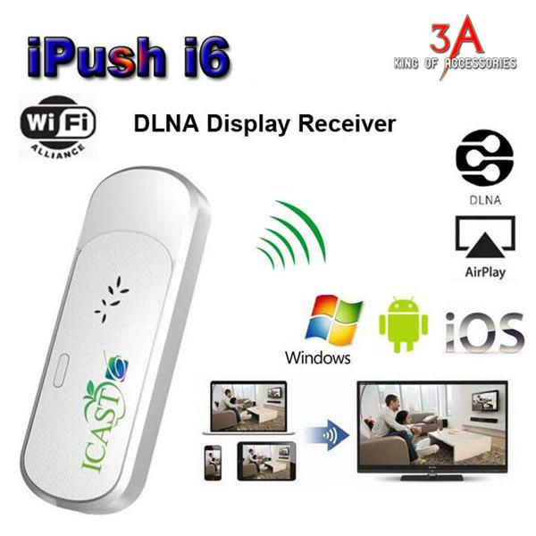 HDMI không dây cho điện thoại Iphone, ipad, samsung, tivi - Ezcast I6