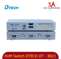 KVM Switch 2 port VGA usb and ps2 chính hãng DTECH DT-8021