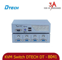 KVM Switch 4 port VGA usb and ps2 auto chính hãng DTECH DT-8041