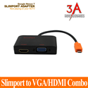 Slimport to hdmi and vga adapter - cáp MHL cao cấp